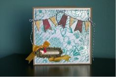 Free cardmaking #tutorial featuring wood veneer and a cute ribbon banner.