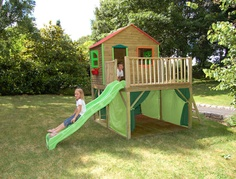 Outdoor Kids' Play Houses By Soulet Kids Outdoor Play, Backyard For Kids, Outdoor Toys, Outdoor Fun, Outdoor Playset, Outdoor Fabric, Outdoor Ideas, Backyard Playhouse, Build A Playhouse