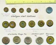 Interesting Card of Metal Shotgun Shell Buttons | eBay