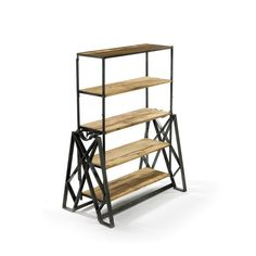"""Dimensions: 42.25"""" L x 24"""" W x 55"""" H · Table: 60.5"""" L x 42.25"""" W x 30.25"""" H Material: Steel, Reclaimed Wood Finish: Hand Rubbed Wood Top with Industrial Steel B"""