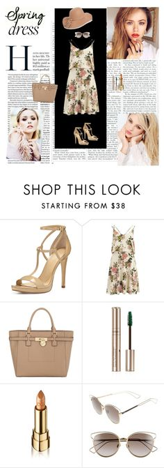 Spring Dress by dinapetridi on Polyvore featuring VILA, MICHAEL Michael Kors, BP., Christian Dior, Dolce&Gabbana, By Terry, Silvana and springdress
