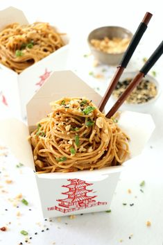 Spicy Peanut Noodles are one of those quick fix comfort dishes during the week. A fake out, take out favorite with these easy Spicy Peanut Noodles. Noodle Recipes, Spicy Recipes, Asian Recipes, Vegetarian Recipes, Cooking Recipes, Healthy Recipes, Ethnic Recipes, Spicy Peanut Noodles, Asian Cooking