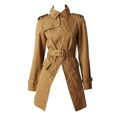 Gautier Embroidered Trench | From a collection of rare vintage coats and outerwear at http://www.1stdibs.com/fashion/clothing/coats-outerwear/