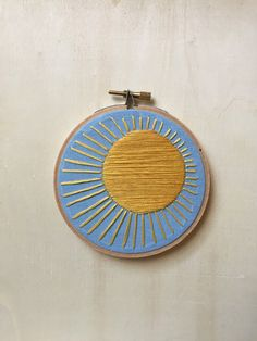 Hoop Art - Sunny Days Embroidery Art in 4-inch Hoop