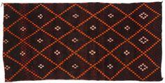Vintage Moroccan Oriental Rug 7 x 14