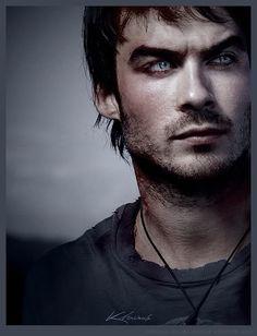 "Ian Somerhalder aka Damon from the 'Vampire Diaries"" Yummmmmm"