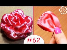 ▶ Лепесток Розы Канзаши / Все лепестки канзаши #62 - YouTube