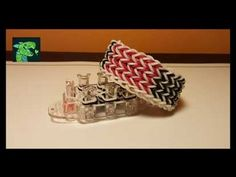 Knitted Dragon Scale AKA Love me Knot on Rainbow loom's Finger loom - YouTube