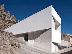 vista de casa em linhas geométricas