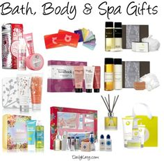Holiday Gift Guide: Bath, Body & Spa Gifts + Giveaway! {more on dailykaty.com}