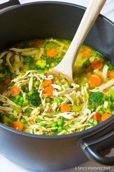Healthy Chicken Detox Soup Recipe & Cleanse   ASpicyPerspective.com (Paleo, Gluten Free, Dairy Free)