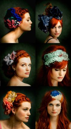 Could this hair color be any more bold and awesome?  I suppose, with the cool headpieces.  Yum