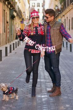 cute idea for xmas photo. love their outfits - so uncoordinated, yet it works.