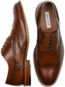 Buy a Joseph Abboud Greenwood Tan Wingtips and other Dress Shoes at Men's Wearhouse. Browse the latest styles, brands and selection in men's clothing. Lace Up Shoes, Men's Shoes, Dress Shoes, Shoes Men, Best Mens Fashion, Mens Fashion Shoes, Men's Fashion, Mens Wingtip Shoes, Men Wearing Dresses