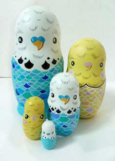 Budgie matroshka #DIY #crafts