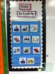 How to set up a special education program/autism classroom.  visual supports for students with special needs