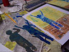 Masking Stencils from Photos for Gelatin Printing - Linda Germain Printmaking