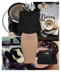 """She 9"" by sarahguo ❤ liked on Polyvore featuring Giuseppe Zanotti, Barbour, Carolee, women's clothing, women, female, woman, misses and juniors"