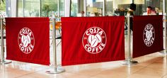 Costa Coffee banners/barriers International Flags, Costa Coffee, Buy Flags, Banners, Hand Sewing, Things To Come, Prints, Sewing By Hand, Costa Cafe