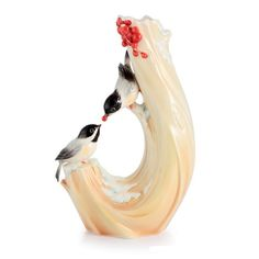 Heartfelt Wish Chickadee and Cranberry Porcelain Vase