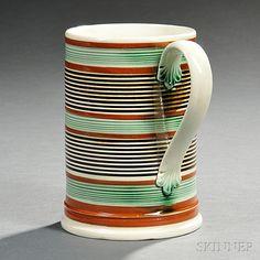 Mocha-decorated Pearlware Quart Mug | Sale Number 2757B, Lot Number 385 | Skinner Auctioneers