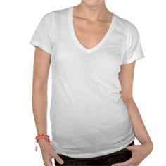 Customize Your Own Ladies V Neck Tee Shirt. Available in various colors and sizes.