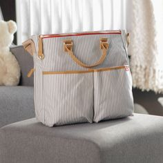 Have to have it. Skip Hop Limited Edition Duo Diaper Bag - Luxe French Stripe - $63.99 @hayneedle.com