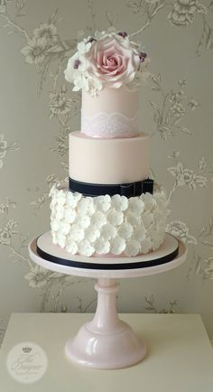 Beautiful wedding cake by The Designer Cake Company