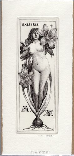 Ex libris by Hayashi Yukiko (林由紀子) Ex Libris, Old Art, Gravure, Erotic Art, Female Art, Art Drawings, Decoration, Illustration Art, Sketches