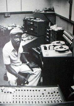 Jamaican producer and founder of legendary Studio One, CLEMENT SEYMOUR DODD, know as COXSONE. Here, mid-seventies...