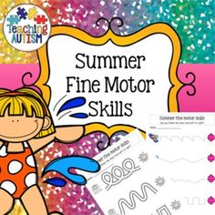 Summer Fine Motor Skills Worksheets Activities Printables No Prep  Includes 24 pages, in color or black and white option.