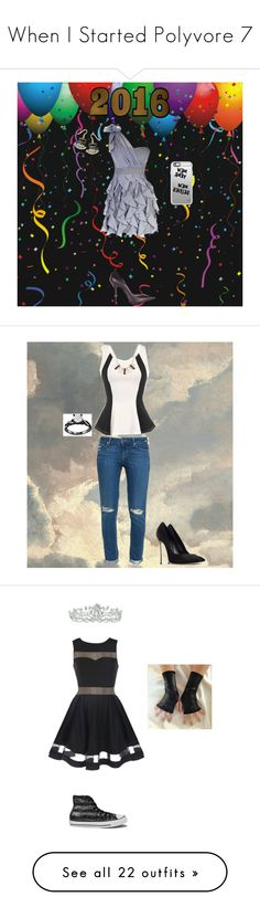 """""""When I Started Polyvore 7"""" by phoenix1053 ❤ liked on Polyvore featuring Casadei, Lucky Star, Casetify, Natures Jewelry, Paige Denim, Kate Marie, Converse, PèPè, Missguided and Yves Saint Laurent"""