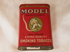 MODEL SMOKING TOBACCO VERTICAL POCKET TOBACCO TIN