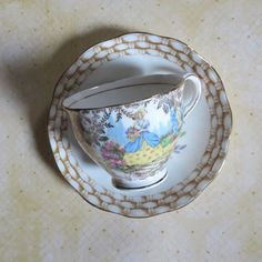 Vintage English Bone China Mismatched Teacup & by MiladyLinden