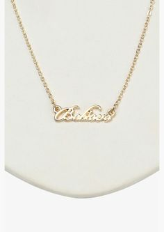 Believe Necklace.