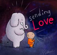 Sending love Buddha Doodles May 2017 Tiny Buddha, Little Buddha, Buddha Buddha, Happy Thoughts, Positive Thoughts, Buddha Thoughts, Osho, Namaste, Buddah Doodles