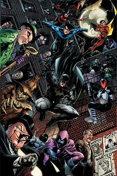The Bat Family with special guests, the Bat Villians