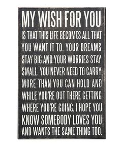 'My Wish For You' Box Sign.