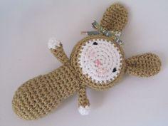 Bunny based on the Rabbit by Christelle Trafarski .  Pattern here http://www.ravelry.com/patterns/library/rabbit-