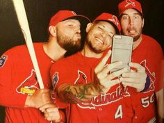 Makes me so sad that they aren't all on the same team anymore. I miss Holliday already! #STLCards