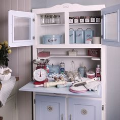 Betty Twyford Blue Retro Kitchen Cabinet