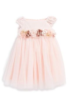 Free shipping and returns on Biscotti 'Winter Blooms' Ballerina Dress (Baby Girls) at Nordstrom.com. A pretty sash detailed with crystal-centered flowers furthers the girly charm of an Empire-waist party dress while a shimmering tulle overlay gives princess-like appeal to the full skirt.