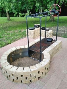Fire Pit Seating, Fire Pit Area, Seating Areas, Fire Pit Grill, Diy Fire Pit, Bbq Grill, Grill Area, Backyard Bbq Pit, Backyard Landscaping