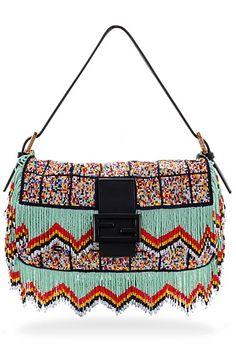 Fendi! My first love! SJP and I saw eye-to-eye. #Fendi #BaguetteHandbag #Beaded #Handbag