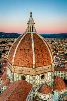 Sunset Duomo from Bell Tower, Florence >>> What a shot!
