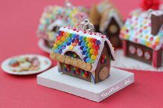 Miniature Gingerbread House Pendant - Rainbow!   Flickr - Photo Sharing!