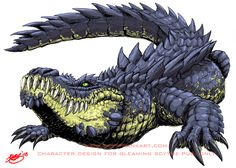 Want to discover art related to alligator? Check out inspiring examples of alligator artwork on DeviantArt, and get inspired by our community of talented artists. Fantasy Monster, Monster Art, Creature Concept Art, Creature Design, Fantasy Creatures, Mythical Creatures, Crocodile Tattoo, Animal Drawings, Character Art