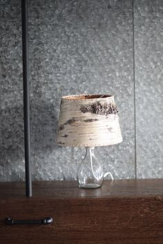 Birch Bark Table Lamp by logandiron on Etsy, $85.00