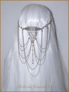 mariage elfique bijoux elfiques cheveux semi pince cheveux couleur ...