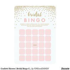 Confetti Shower | Bridal Bingo Cards
